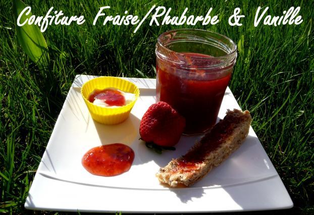 recette confiture rhubarbe fraise vanille au cooking. Black Bedroom Furniture Sets. Home Design Ideas