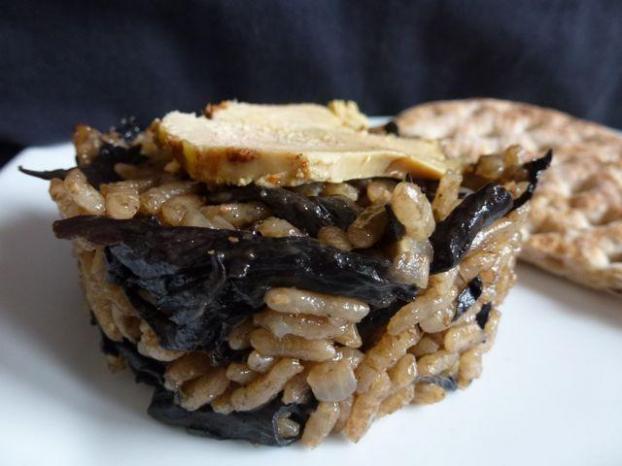 Recette risotto aux c pes et au foie gras 750g - Cuisiner des trompettes de la mort ...