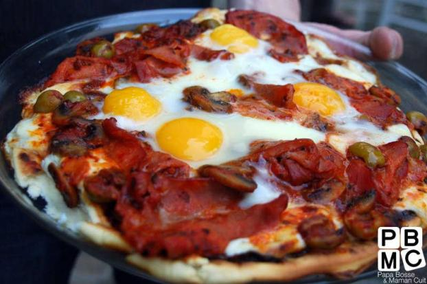 recette pizza royale au barbecue 750g