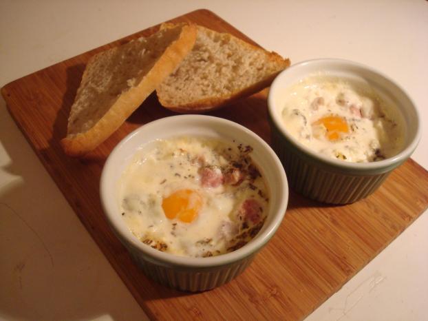 Recette oeufs cocottes au d s de jambon 750g - Cuisiner des oeufs ...