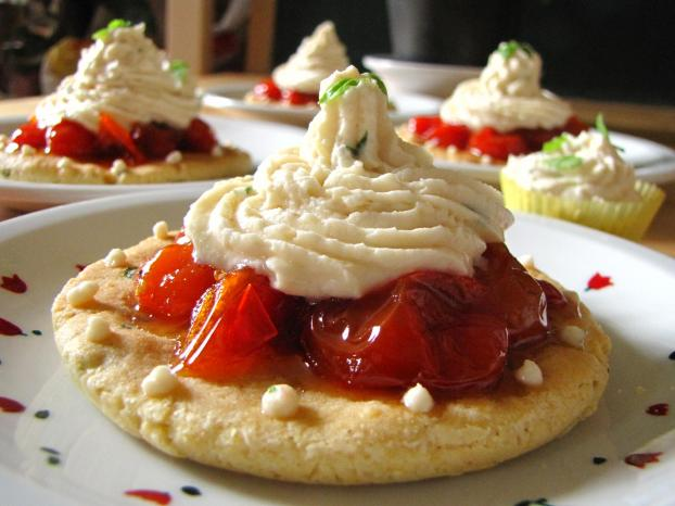 recette tartelettes sucr es de tomates confites et chantilly de basilic citron 750g. Black Bedroom Furniture Sets. Home Design Ideas