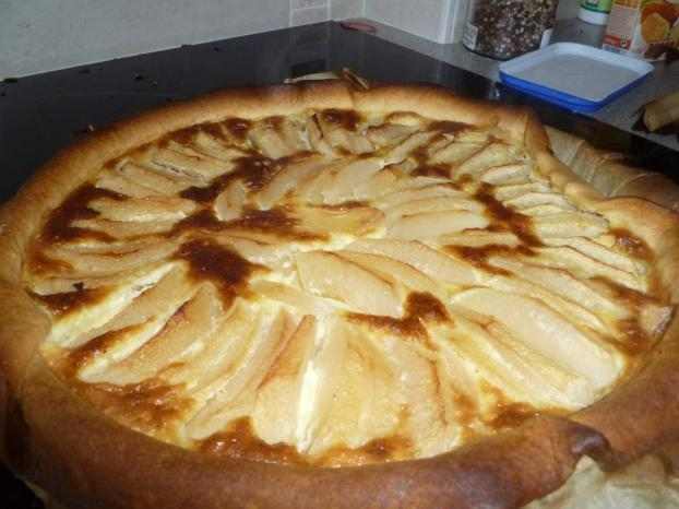 recette tarte au flan et aux pommes 750g. Black Bedroom Furniture Sets. Home Design Ideas