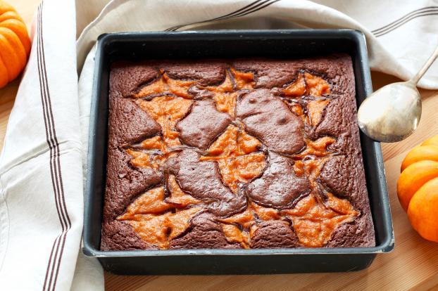 Recette Brownie Marbre Au Potiron En Pas A Pas