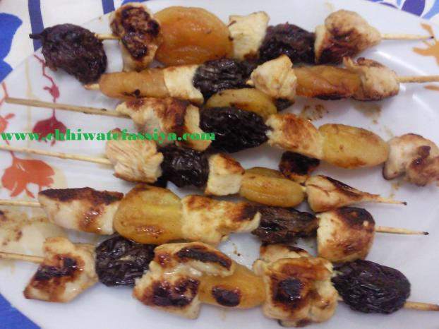 brochette de volaille aux fruits