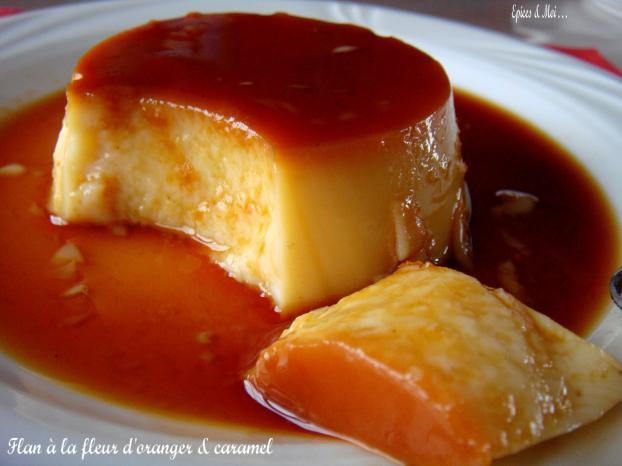 recette flan la fleur d 39 oranger et caramel 750g. Black Bedroom Furniture Sets. Home Design Ideas