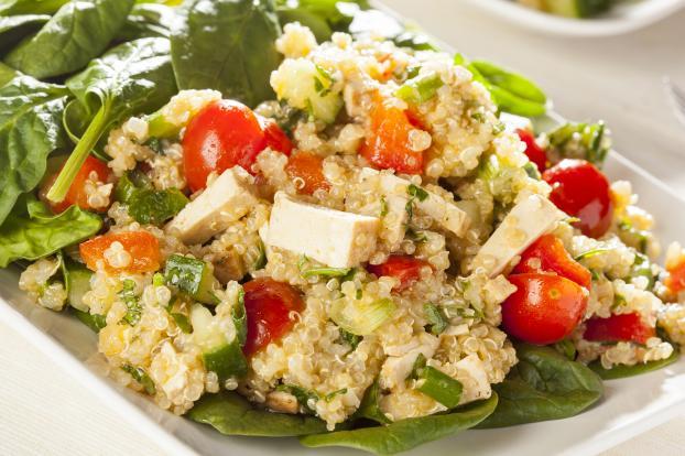 Recette - Salade de quinoa, tofu et courgette | 750g on