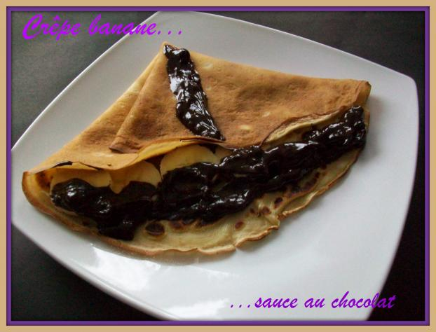 recette cr pe banane sauce au chocolat 750g. Black Bedroom Furniture Sets. Home Design Ideas