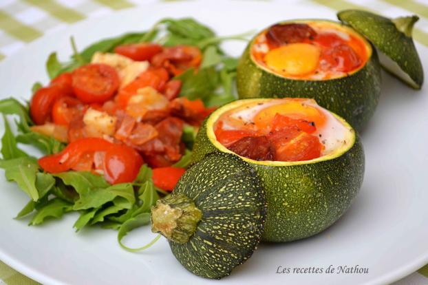Recette - Courgettes rondes farcies aux oeufs, tomates ...