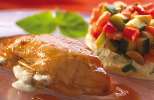 Recette filet de poulet farci au philadelphia 750g - Filet de poulet au four ...