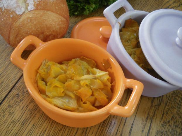 recette - cassolette de courgettes jaunes en copeaux | notée 4.4/5