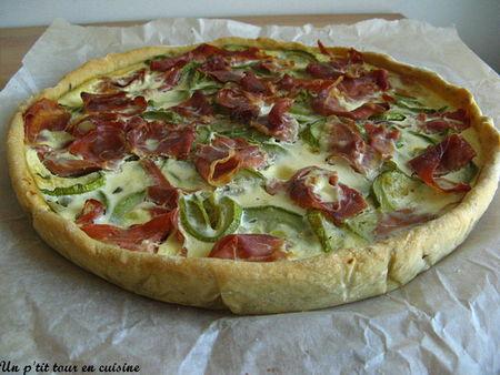 recette tarte 224 la courgette et au jambon cru p 226 te 224 l huile d olive et aux graines de pavot