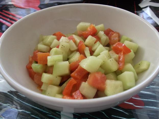 salade concombre vinaigrette