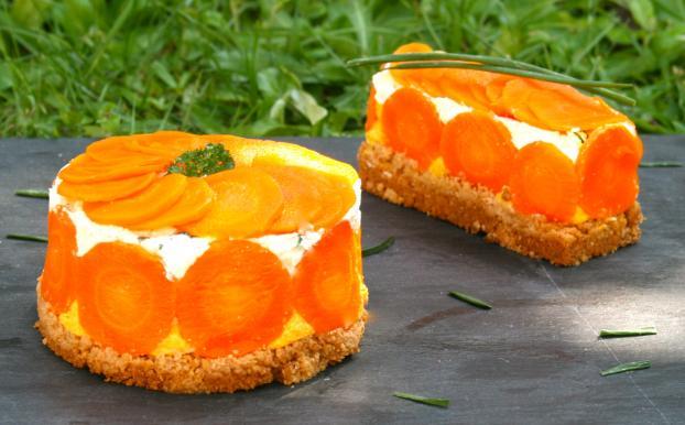 Recette - Cheesecake salé aux carottes | 750g
