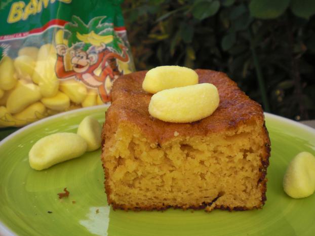 recette cake aux bananes bams haribo 750g. Black Bedroom Furniture Sets. Home Design Ideas