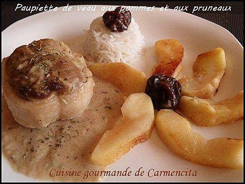Recette paupiettes de veau aux pommes et aux pruneaux 750g - Comment cuisiner des paupiettes de veau ...