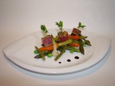 Recette thon rouge mi cuit aux parfums d 39 asie petits - Cuisiner le thon rouge ...