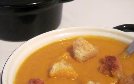 Recette soupe de potiron au lait de coco 750g - Soupe potiron lait de coco curry ...