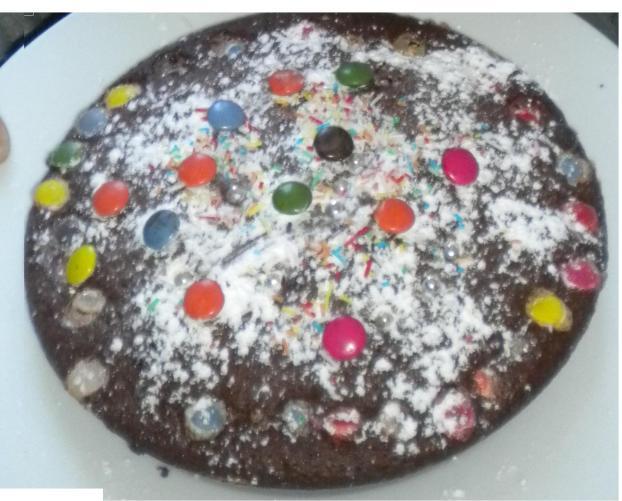 Gâteaux aux chocolat et smarties