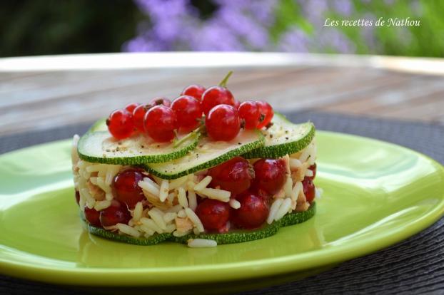 recette salade de riz au thon courgette et groseilles. Black Bedroom Furniture Sets. Home Design Ideas
