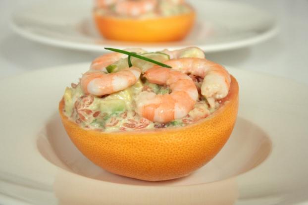 Recette - Tartare pamplemousse-avocat-crevettes, citron ...