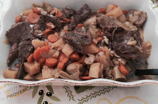 Sanglier et légumes cocotte minute - Photo par tac241