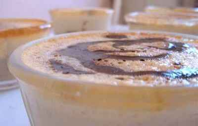 Crème aux œufs au coulis chocolaté - Photo par stepha4S