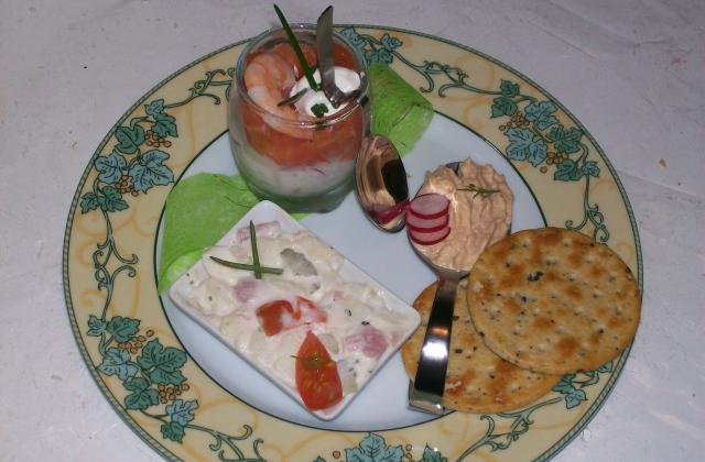Verrine saumon/concombre - Photo par dianicR