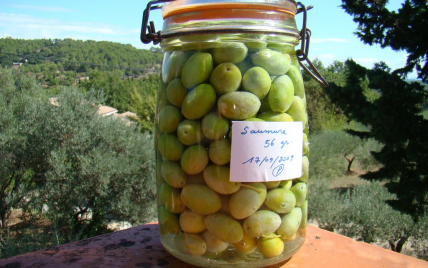Olives vertes en saumure - Photo par jupiter