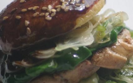 Hamburger Aquitain à la pomme du Limousin et Foie gras de canard - Photo par AAPrA
