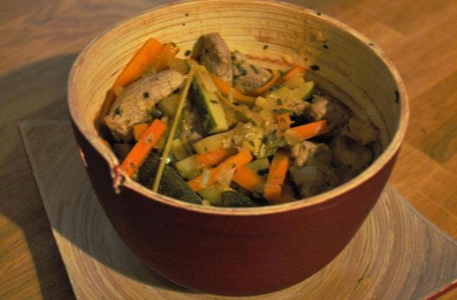 Filet mignon aux légumes croquants - Photo par popottedepop