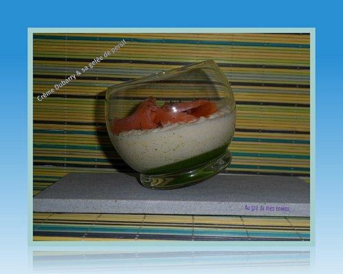 Crème Dubarry et sa gelée de persil - Photo par Annick