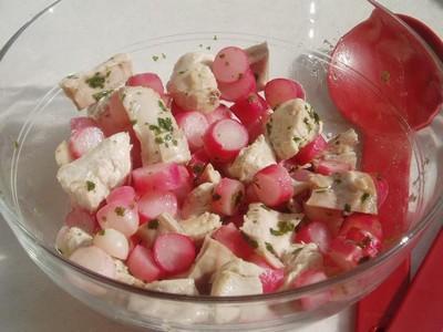 Salade de lapin et radis en sauce chinoise - Photo par newelm