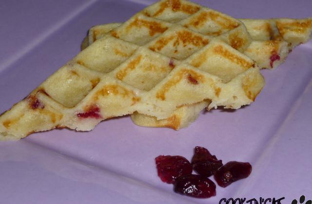 Gaufres chocolat blanc cranberries - Photo par ptitpims