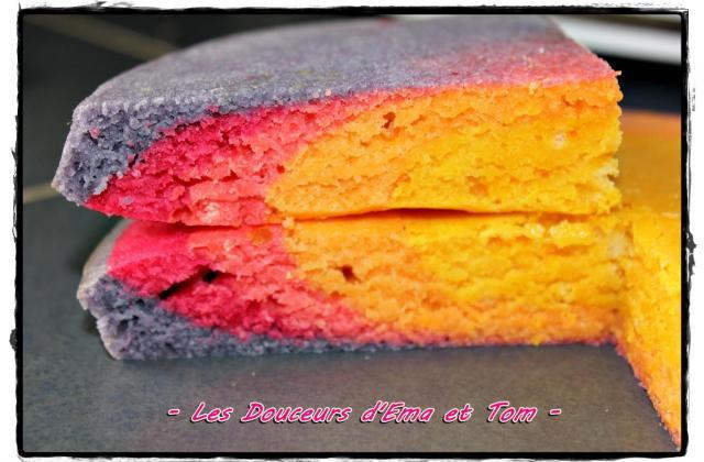 Le gâteau arc en ciel - Photo par Les douceurs d'Ema et Tom