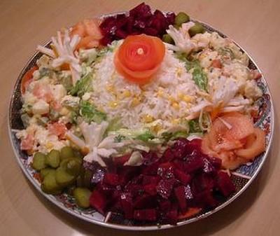 Salade composée au riz - Photo par massar
