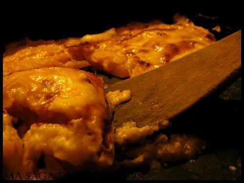 Gratin de potiron, raclette et jambon cru - Photo par SagaM