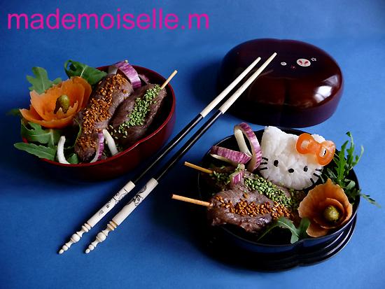 Brochettes d'aiguillettes de canard au jus de cerise - Photo par Mélanie Montagné