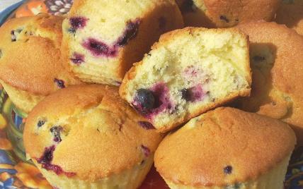 Muffins aux cassis - Photo par La soupe à la citrouille