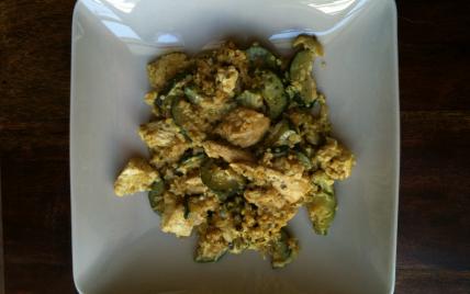 Curry de courgettes et volaille au quinoa - Photo par djooli