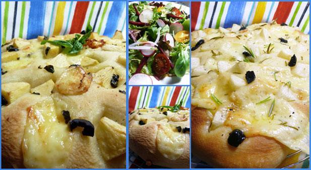 Variation de focaccia au cantal - Photo par mopech