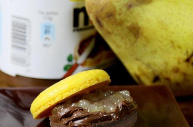 Macaron poire et Nutella - Photo par macaron-passion