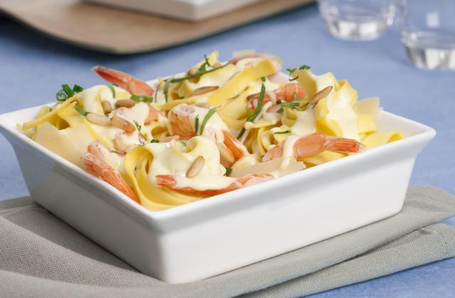 Tagliatelles aux crevettes et au parmesan - Photo par Amora