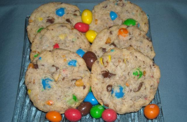 Cookies moelleux au m&ms - Photo par jlauree