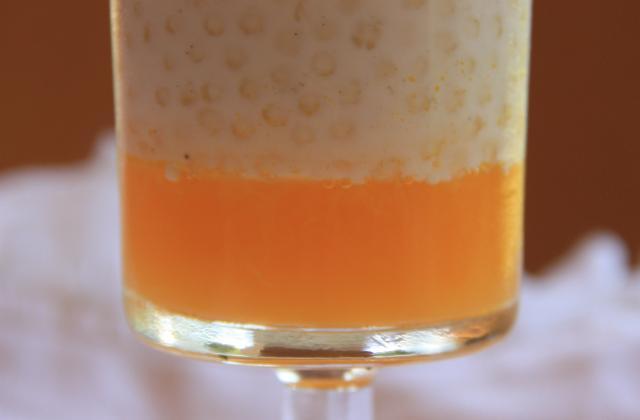 Perles du Japon, gelée d'orange et suprême mentholé - Photo par sarahrj