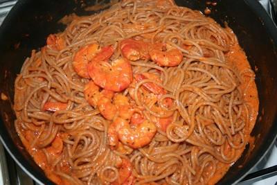 Spaghettis aux gambas - Photo par audreykE
