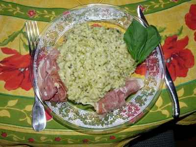Risotto au pesto de roquette - Photo par pepita