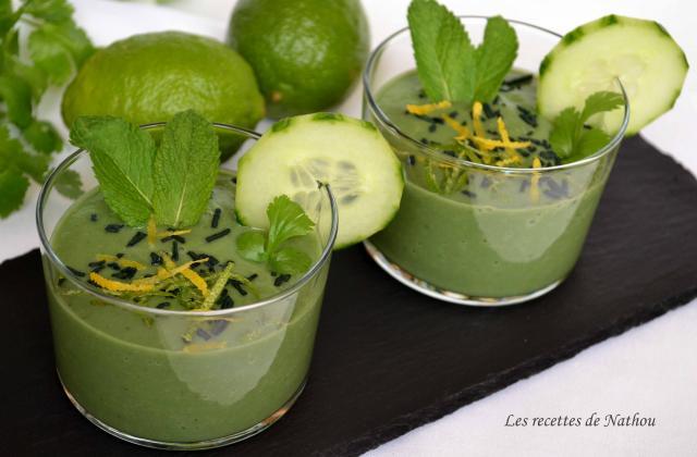 Gaspacho de concombre et avocat, citron vert et spiruline - Photo par Communauté 750g
