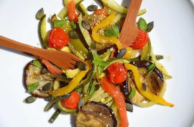 Salade de légumes rôtis à la menthe - Photo par Les recettes de Juliette
