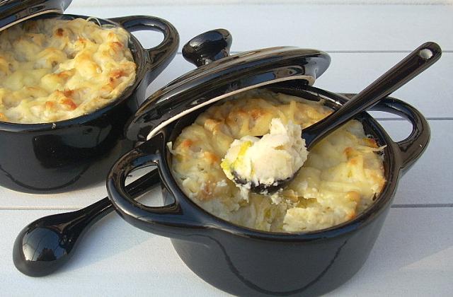 Parmentier de poireaux au fromage - Photo par La soupe à la citrouille
