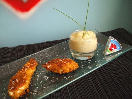 Menu pour les petits ! Nuggets de poulet panés aux corn flakes et son velouté de courgettes à la vache qui rit ! Pour 5 - Photo par Recette de Benzo